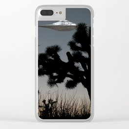 Joshua Tree Space Invasion by C.Reyes Clear iPhone Case
