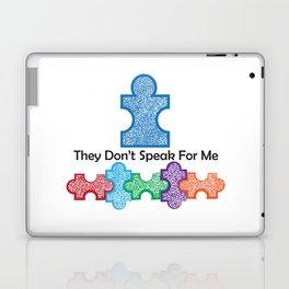 Autism Speaks Doesn't Speak for Me Laptop & iPad Skin