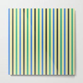 Adri | Colorful Stripes Pattern Metal Print