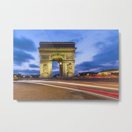 PARIS Triumphbogen Metal Print