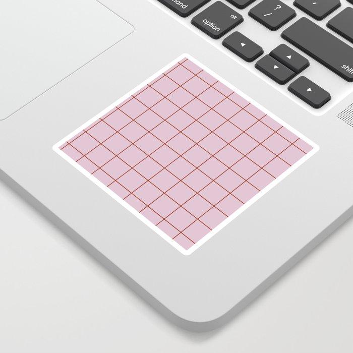 Citymap Grid - Lilac/Rust Sticker