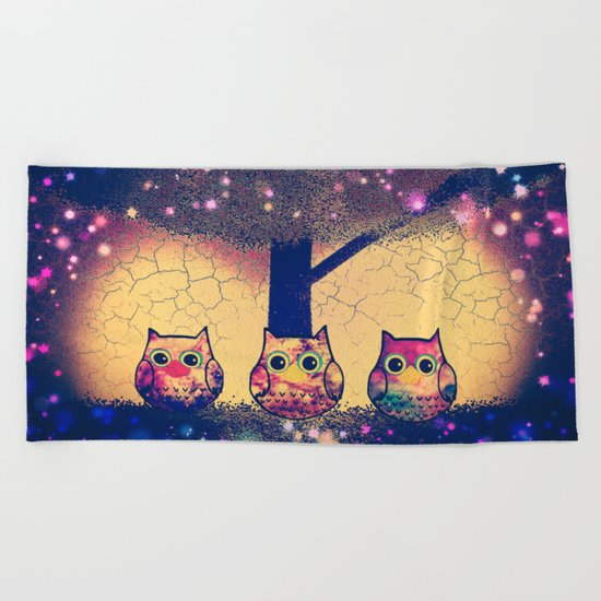 owl-38 Beach Towel