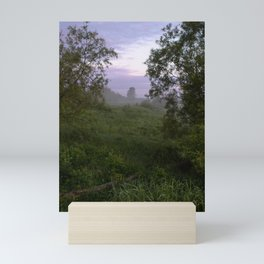 Dawn in a field Mini Art Print