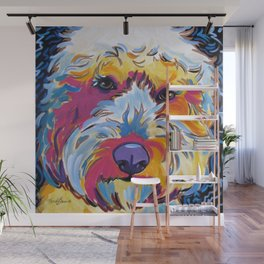 Sunshine the Goldendoodle Wall Mural