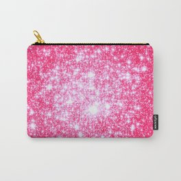 Hot Pink Galaxy Stars Sparkle Carry-All Pouch