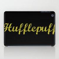 hufflepuff iPad Cases featuring One word - Hufflepuff by husavendaczek