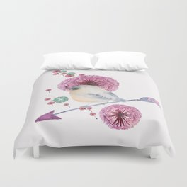 Cute Bird and Dandelion Duvet Cover
