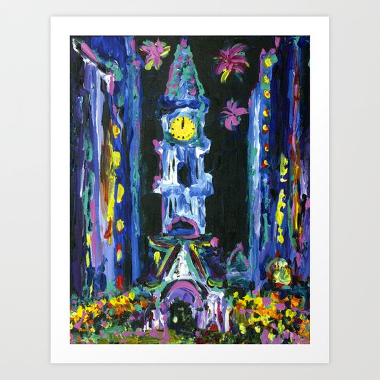 Broad Street New Years Art Print