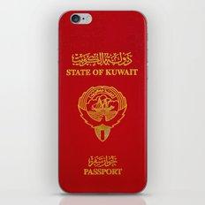 Kuwaiti Pass Port Red iPhone & iPod Skin