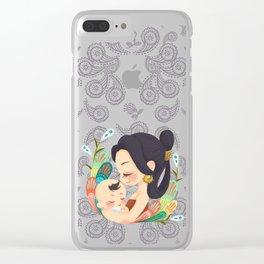 Motherly Love batik Clear iPhone Case