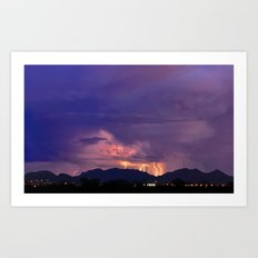 Arizona Monsoon Flame Art Print