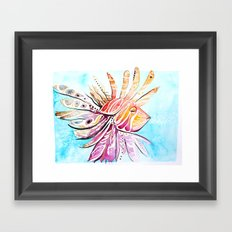 Lionfish Framed Art Print