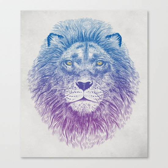 Face of a Lion Canvas Print