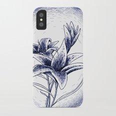 Lilies iPhone X Slim Case