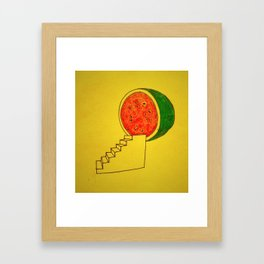 To Watermelon Framed Art Print