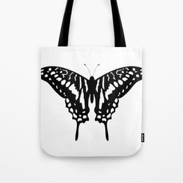 Beautiful Black Decorative Butterfly Tote Bag