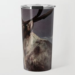 Vintage Reindeer Painting (1909) Travel Mug