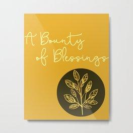 Bountiful Blessings Metal Print
