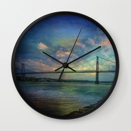 Hudson River Rapture Wall Clock