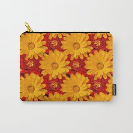 A Medley of Red and Yellow Marigolds Carry-All Pouch