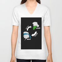 metal gear solid V-neck T-shirts featuring Metal Gear: Solid Liquid States by Bendragon