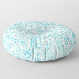Mermaid Toile - Teal Floor Pillow