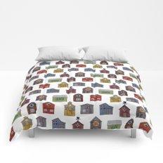 Barn Quilt Illustration Comforters