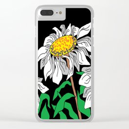 High Altitude Daisies Clear iPhone Case
