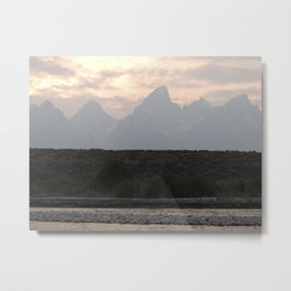 Grand Tetons by the Snake River Metal Print