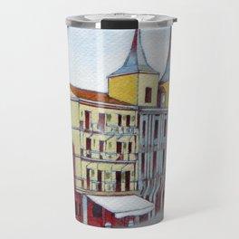 Postcard from Plaza Mayor, Segovia, Spain Travel Mug