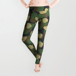 Heart Camo WOODLAND Leggings