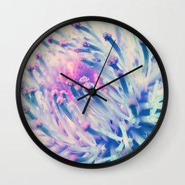PINK THISTLE BLOOM III Wall Clock