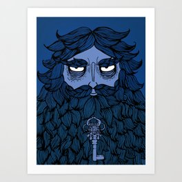 Barbe Bleue Art Print