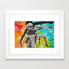 We Escape: Silhouette Series #10 Framed Art Print