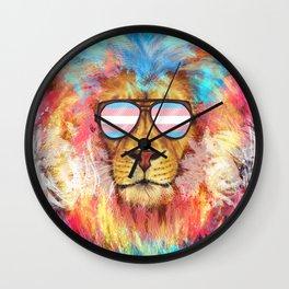 Trans Lion Pride Wall Clock
