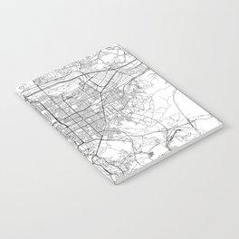 Taipei White Map Notebook