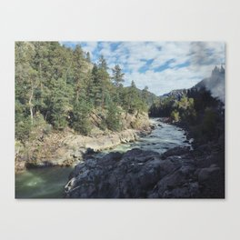 Traveling through the Mountains Canvas Print