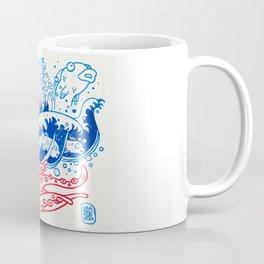 Kunoishi versus octopuss japanese vintage manga Coffee Mug