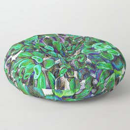 Floral tribute [green] Floor Pillow