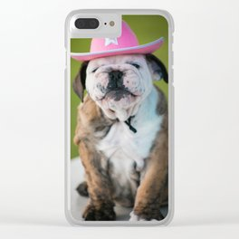 Cowgirl Puppy Clear iPhone Case