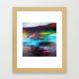 Aurore Boreal 'série Footprint' Framed Art Print