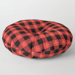 Red Buffalo Plaid Flannel Pattern Floor Pillow