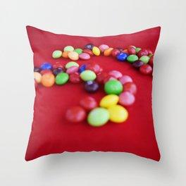 Skittles Swirls Throw Pillow