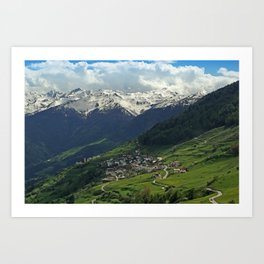 Val di Mazia in Alps, Italy Art Print