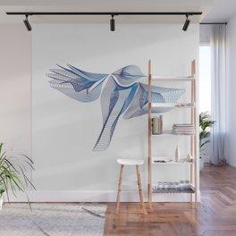 Blue Parus Major Wall Mural