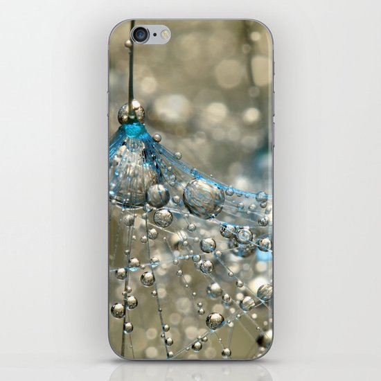 Cyan & Gold iPhone & iPod Skin