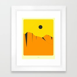 Minimal Landscape 16 (Orange Cliffs) Framed Art Print