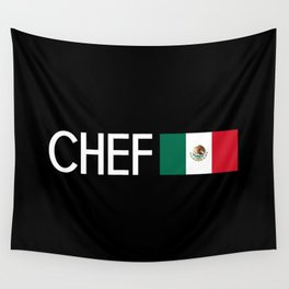 Chef (Mexican Flag) Wall Tapestry