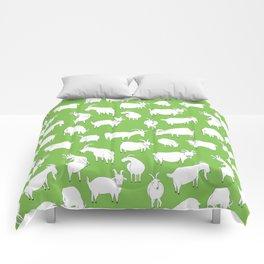 Green Goats Comforters