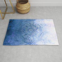 Enchanted Indigo - watercolor + doodle Rug